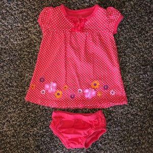 Carter's dress w/ matching bloomers